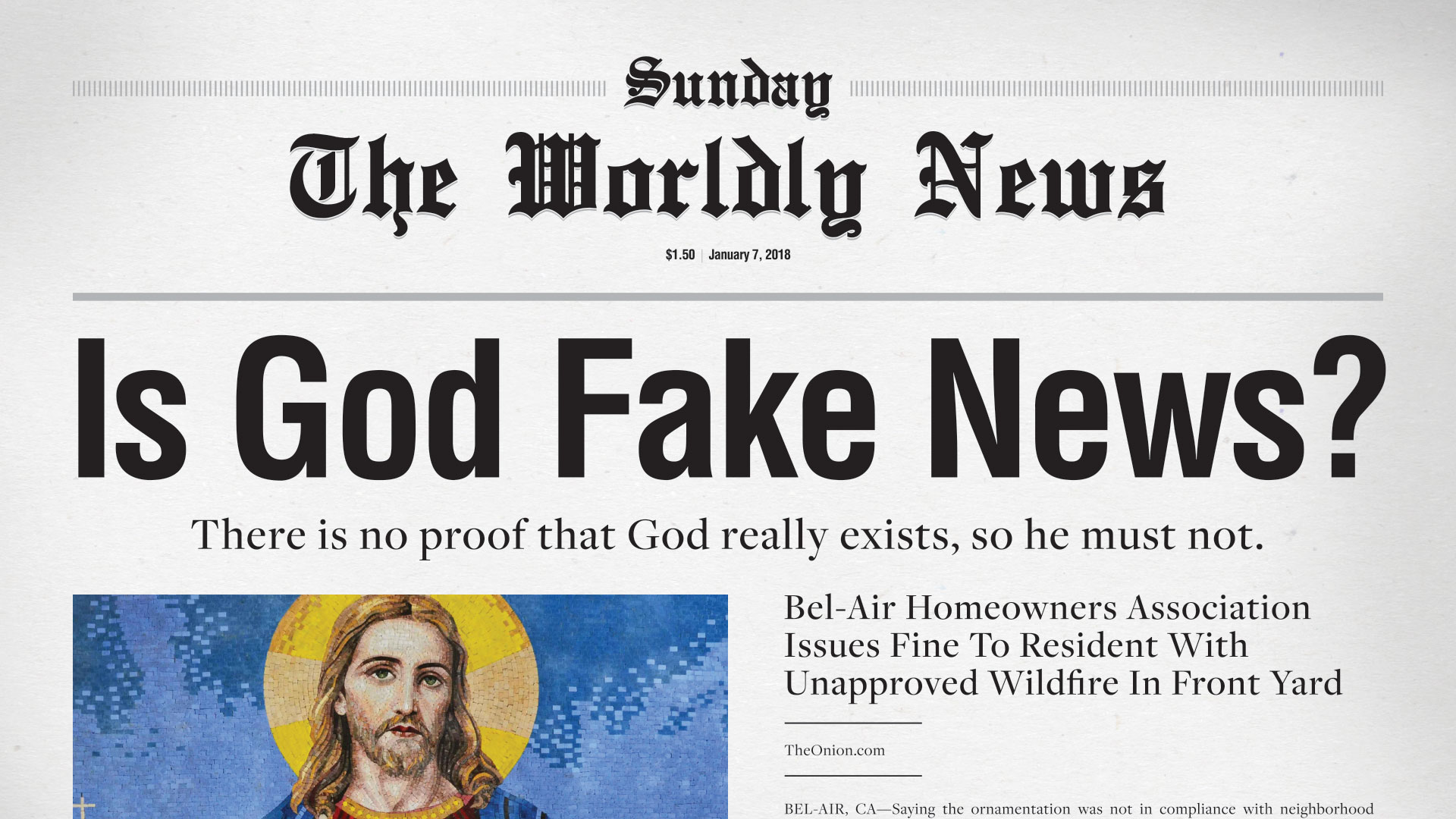 Message Series: Is God Fake News?